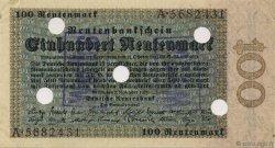 100 Rentenmark ALLEMAGNE  1923 P.166s SPL