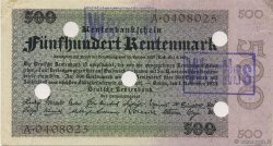 500 Rentenmark ALLEMAGNE  1923 P.167s SUP+