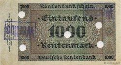1000 Rentenmark ALLEMAGNE  1923 P.168s SUP