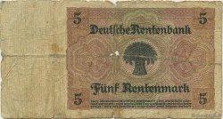 5 Rentenmark ALLEMAGNE  1926 P.169 B