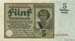 5 Rentenmark ALLEMAGNE  1926 P.169 SUP+
