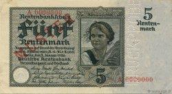 5 Rentenmark ALLEMAGNE  1926 P.169s pr.SUP