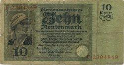 10 Rentenmark ALLEMAGNE  1925 P.170 B