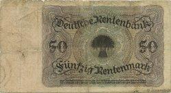 50 Rentenmark ALLEMAGNE  1925 P.171 B