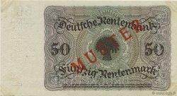 50 Rentenmark ALLEMAGNE  1925 P.171s SUP
