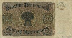 50 Rentenmark ALLEMAGNE  1934 P.172 TTB