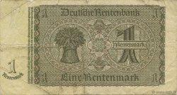 1 Rentenmark ALLEMAGNE  1937 P.173b B+