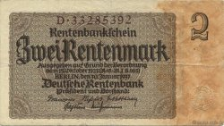 2 Rentenmark ALLEMAGNE  1937 P.174b TTB