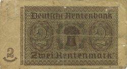 2 Rentenmark ALLEMAGNE  1937 P.174b pr.TB