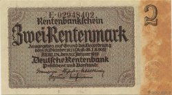 2 Rentenmark ALLEMAGNE  1937 P.174b NEUF
