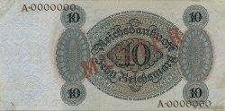 10 Reichsmark ALLEMAGNE  1924 P.175s pr.SUP