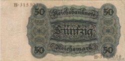 50 Reichsmark ALLEMAGNE  1924 P.177 TTB+