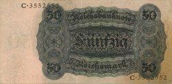50 Reichsmark ALLEMAGNE  1924 P.177 SUP+