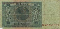 10 Reichsmark ALLEMAGNE  1929 P.180a B à TB