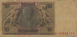 20 Reichsmark ALLEMAGNE  1929 P.181a B