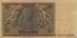 20 Reichsmark ALLEMAGNE  1929 P.181a TTB
