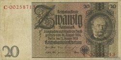 20 Reichsmark ALLEMAGNE  1929 P.181b TTB