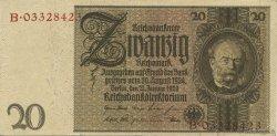 20 Reichsmark ALLEMAGNE  1929 P.181b SUP