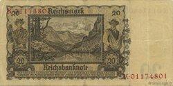 20 Reichsmark ALLEMAGNE  1939 P.185 TB