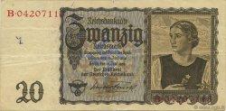 20 Reichsmark ALLEMAGNE  1939 P.185 pr.TTB
