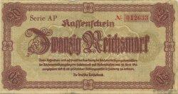 20 Reichsmark ALLEMAGNE  1945 P.187 TTB