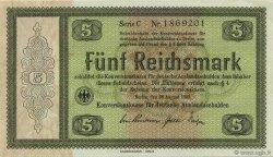 5 Reichsmark ALLEMAGNE  1933 P.199 pr.NEUF