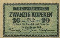 20 Kopeken ALLEMAGNE Posen 1916 P.R120 SUP
