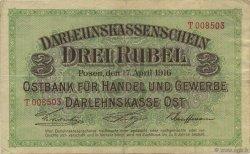 3 Rubel ALLEMAGNE  1916 P.R123b TTB
