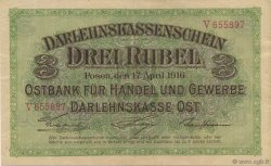 3 Rubel ALLEMAGNE  1916 P.R123b TTB+