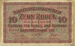 10 Rubel ALLEMAGNE  1916 P.R124 TTB
