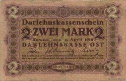 2 Mark ALLEMAGNE  1918 P.R129 TB+