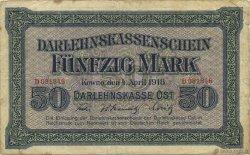 50 Mark ALLEMAGNE  1918 P.R132 TB