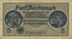 5 Reichsmark ALLEMAGNE  1940 P.R138a TB