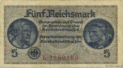 5 Reichsmark ALLEMAGNE  1940 P.R138a TTB