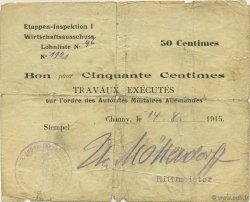50 Centimes ALLEMAGNE  1915 P.M01 pr.TB