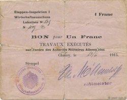 1 Franc ALLEMAGNE  1915 P.M02 pr.TB