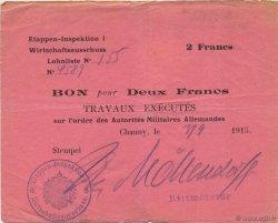 2 Francs ALLEMAGNE Chauny 1915 P.M03 TTB