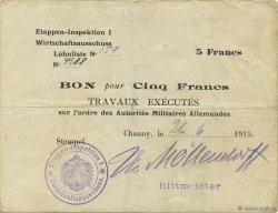 5 Francs ALLEMAGNE  1915 P.M04 TB+