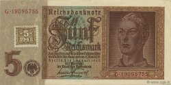 5 Deutsche Mark ALLEMAGNE  1948 P.003 SUP+