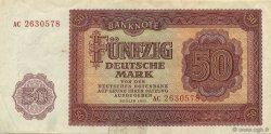 50 Deutsche Mark ALLEMAGNE  1955 P.020a TTB+