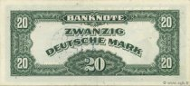 20 Mark ALLEMAGNE  1948 P.006b SUP+