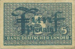 5 Pfennig ALLEMAGNE FÉDÉRALE  1948 P.11a TB+