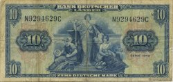 10 Deutsche Mark ALLEMAGNE FÉDÉRALE  1949 P.16a TB