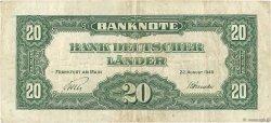 20 Deutsche Mark ALLEMAGNE  1949 P.017a TTB