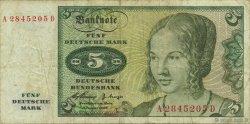 5 Deutsche Mark ALLEMAGNE FÉDÉRALE  1960 P.18a TB