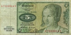 5 Deutsche Mark ALLEMAGNE  1960 P.018a TB