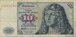 10 Deutsche Mark ALLEMAGNE  1960 P.019a B+