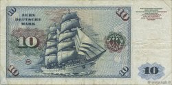 10 Deutsche Mark ALLEMAGNE FÉDÉRALE  1960 P.19a TB+