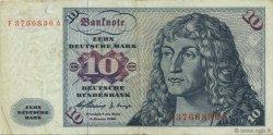 10 Deutsche Mark ALLEMAGNE FÉDÉRALE  1960 P.19a TTB