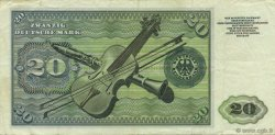 20 Deutsche Mark ALLEMAGNE FÉDÉRALE  1960 P.20a TTB